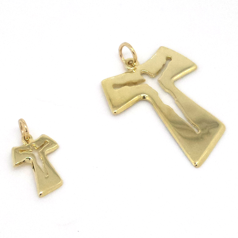 Basic layout 14k gold tau cross pendant current page mozeypictures Image collections